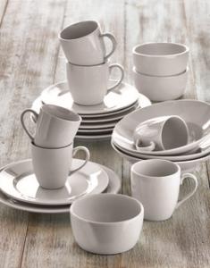 TAG white porcelain dinnerware